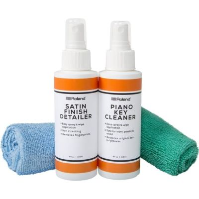 Roland satin sheen piano polish care kit