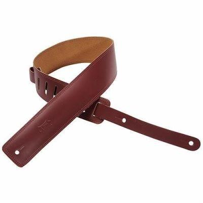 Levy's DM1-BRG Leather W Double Stitch Burgandy Guitar Strap