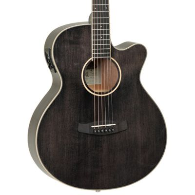 Tanglewood TW4 Super Folk Electro Acoustic Black Shadow
