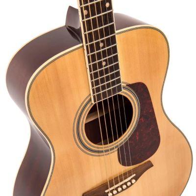 Vintage V300 Folk Guitar Solid Top Natural