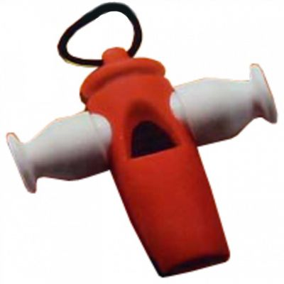 Stagg 3-Tone Whistle red/white