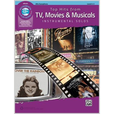 Top Hits From TV, Movies and Musicals - Alto Sax play-along