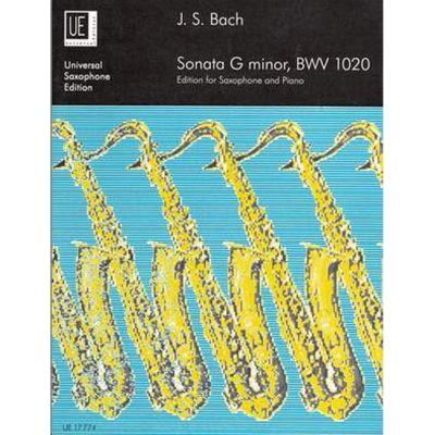Bach Sonata G minor BWV 1020 (alto sax piano)