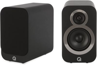 Q Acoustics 3010i Compact Bookshelf Speakers (Pair) Carbon Black