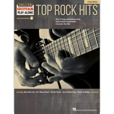 Deluxe Guitar Play-Along Top Rock Hits (Book + Online Audio)