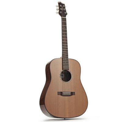 Ozark 3801 Folk Guitar D Model Laminated Koa/ Solid Cedar