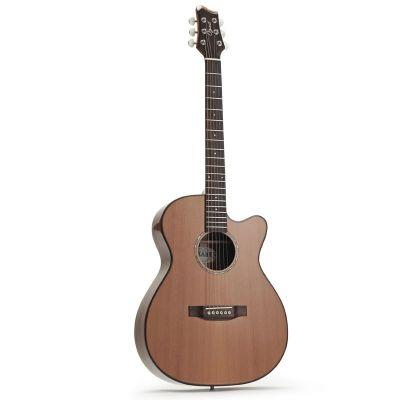 Ozark Folk Guitar OM Cutaway Laminated Koa/ Solid Cedar