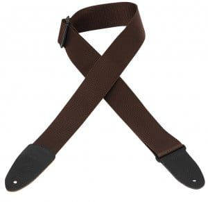 Levy's M8-BRN Soft Hand Polypropylene Brown Guitar Strap