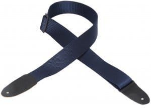Levy's M8-NAV SoftHand Polypropylene With Leather Ends Navy Guitar Strap