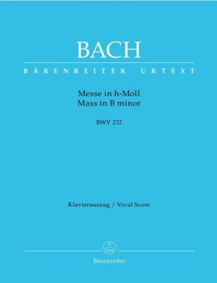 Mass in B minor (BWV 232) (Urtext) (L) Vocal Score Paperback (Old edition)