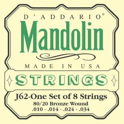 D'Addario 80/20 Bronze Mandolin Strings, Light, 10-34