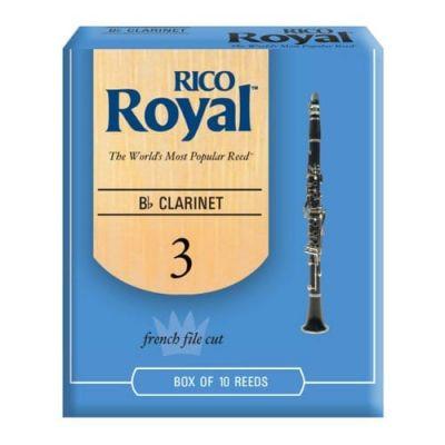 Rico Royal Bb Clarinet Reeds, Strength 3.0 (10 Pack)