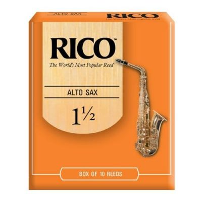 Rico Orange Alto Sax Reeds, Strength 1.5 (10 Pack)