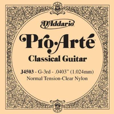 D'Addario Pro-Arte Nylon Classical Guitar Single String, Normal Tension, Third S