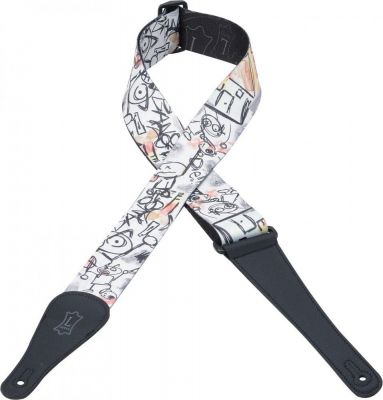 Levy's MPD2-006 Sublimation Polyester Stick Men Guitar Strap