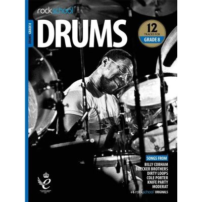 Rockschool Drums Grade 8 from 2018 (Book + Audio)