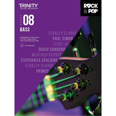 Trinity College London Rock and Pop 2018 Bass Grade 8 (Book + Online Audio)