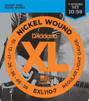 D'Addario XL Regular Light 7-String