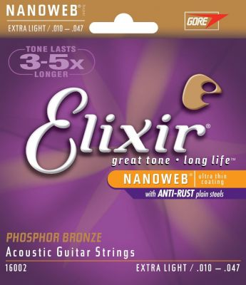 Elixir Phosphor Bronze NanoWeb Extra Light