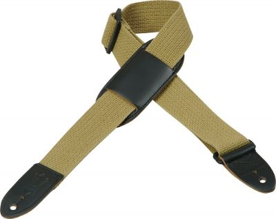 Levy's MC8-TAN Cotton Leather Ends Tan Guitar Strap