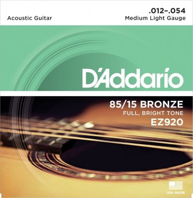 D'Addario 85 15 Bronze Medium Light