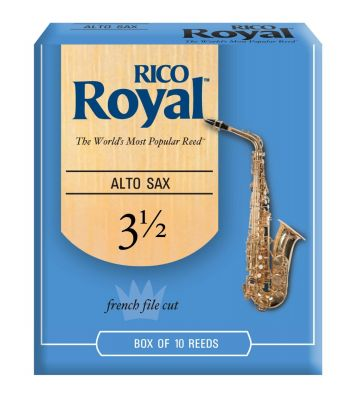 Rico Royal(Box Of 10) Alto Saxophone Reeds 3 5 (4407F)
