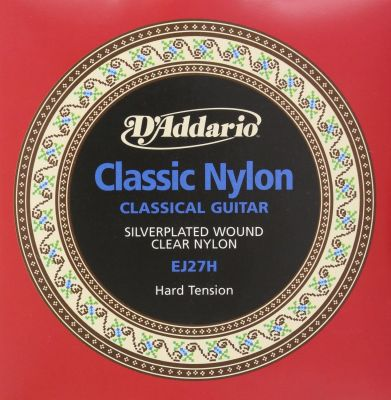 D'Addario Student Nylon Classical Guitar Strings, Hard Tension