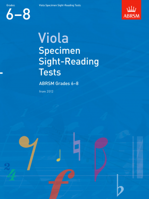 ABRSM Viola Specimen Sight-Reading Grades 6 - 8