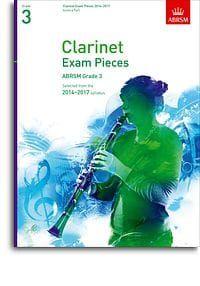 ABRSM Clarinet Exam pieces 2014-2017 Grade 3 (score and part)