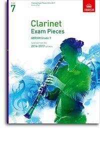 ABRSM Clarinet Exam pieces 2014-2017 Grade 7 (score and part)