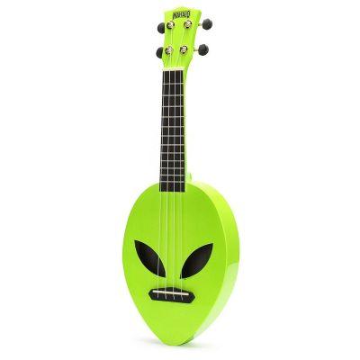 Mahalo Soprano Ukulele, Alien Design, Neon Green