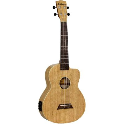 Ashbury AU-40TCE Flamed Oak Electro Acoustic Tenor Ukulele