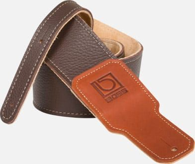 Boss 2.5 Brown Premium leather guitar strap