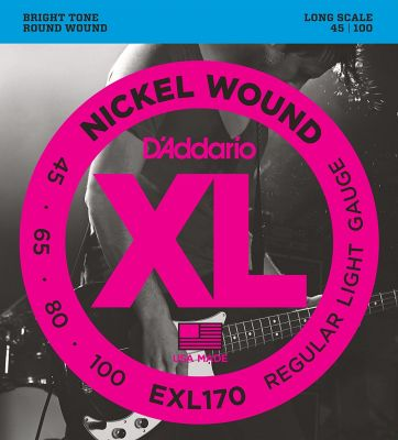 D'Addario XL Nickel Wound Bass 045-100 Super Long