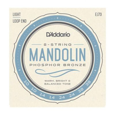 D'Addario Mandolin Strings, Phosphor Bronze, Light, 10-38