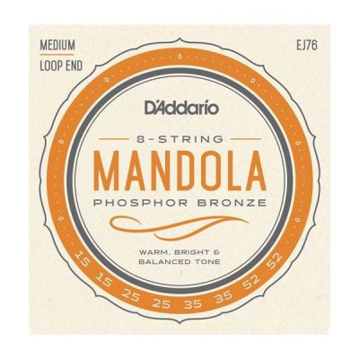 D'Addario Mandola Strings, Phosphor Bronze, Medium, 15-52