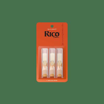 Rico Orange Bb Clarinet Reeds, Strength 3.0 (3 Pack)