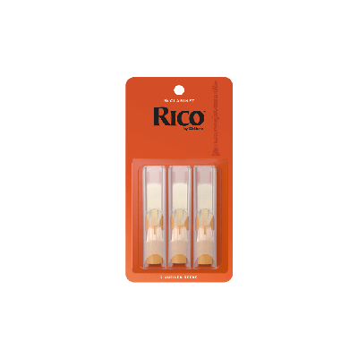 Rico Orange Bb Clarinet Reeds, Strength 2.5 (3 Pack)