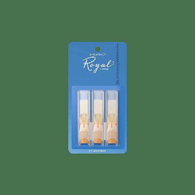 Rico Royal Bb Clarinet Reeds, Strength 1.5 (3 Pack)