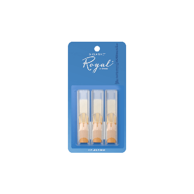 Rico Royal Bb Clarinet Reeds, Strength 2.0 (3 Pack)