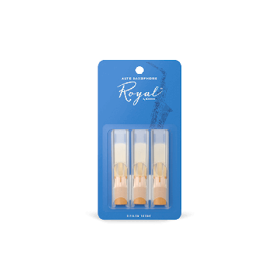 Rico Royal Alto Sax Reeds, Strength 2.5 (3 Pack)
