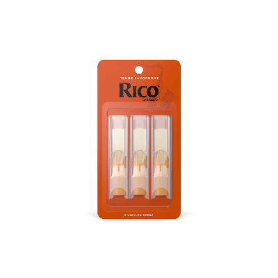 Rico Orange Tenor Sax Reeds, Strength 2.5 (3 Pack)