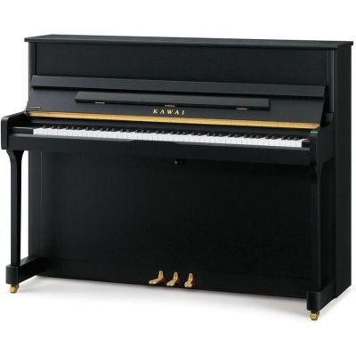 Kawai E200 Studio Upright Piano; Satin Black