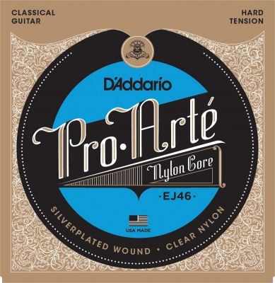 D'Addario Pro-Arte Nylon Classical Guitar Strings, Hard Tension