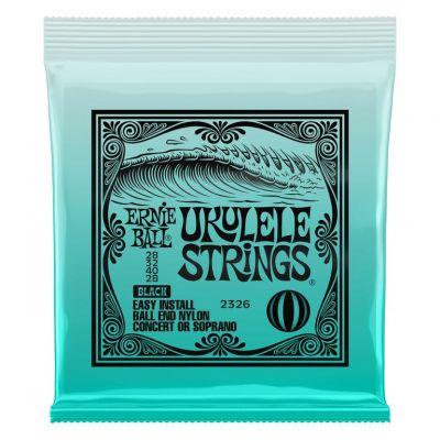 Ernie Ball Concert/Soprano Black Ukulele Strings 28,32,40,28