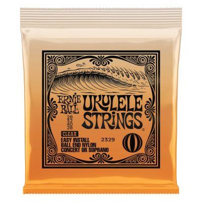 Ernie Ball Concert/Soprano Clear Ukulele Strings 28,32,40,28