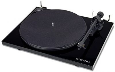 Project Essential III Turntable Digital with Optical Output and PreAmp, Black
