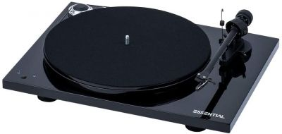 Project Essential III Turntable Record Master USB, Phono and Adj Speed, Black