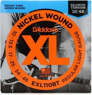 D'Addario EXL110BT Nickel Wound Electric Guitar Strings Balanced Tension Regular Light