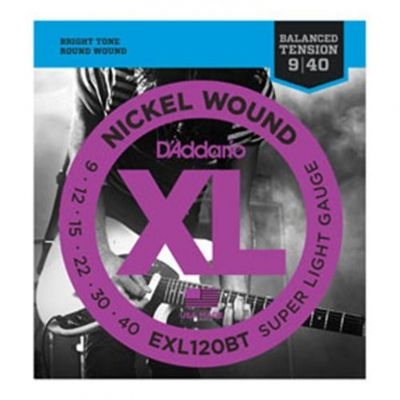 D'Addario EXL120BT Nickel Wound Electric Guitar Strings Balanced Tension Super Light